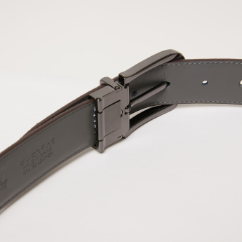 Duchini Textured Belt with Pin Buckle