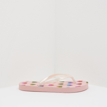 Printed Flip Flop with Slip-On Closure