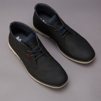 Lee Cooper Textured Lace-Up Chukka Boots