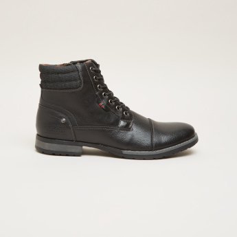 Lee Cooper High Top Shoes with Zip Closure