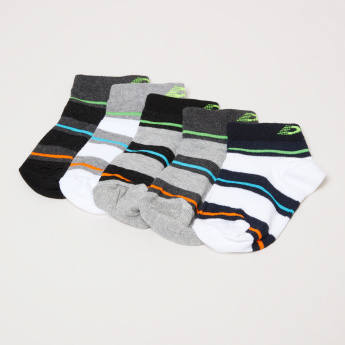triped Ankle Length Socks - Set of 5