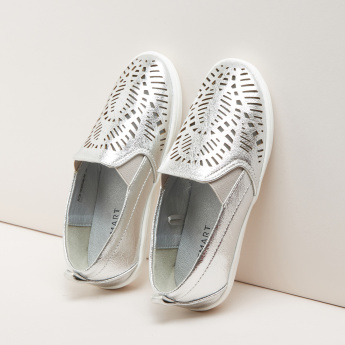Cutwork Slip-On Shoes with Elasticised Gussets