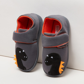 Dinosaur Patch Detail Indoor Novelty Shoes