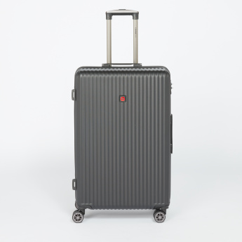 SWISSBRAND Textured Hard Case Trolly Bag with Combination Lock
