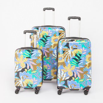 ELLE Printed Hard Case Trolley Bag with Cushioned Handle