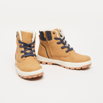 Lee Cooper Plush Detail Boots with High Top