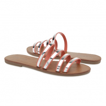 Paprika Strappy Slides