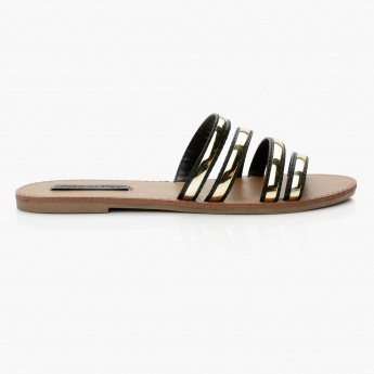 Paprika Slip-On Flat Sandals