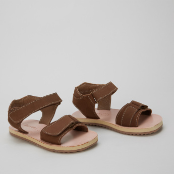 Barefeet Sandals with Hook and Loop Closure