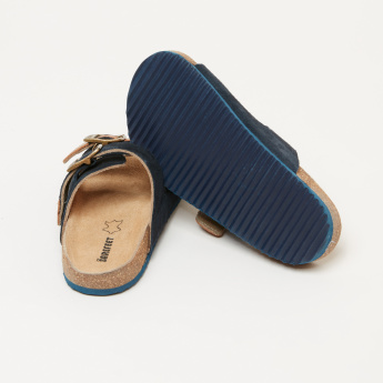 Barefeet Textured Slides with Buckle Closure