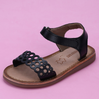 Barefeet Textured Sandals with Hook and Loop Closure