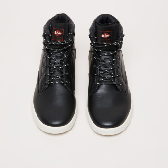d0d7dd23297 Lee Cooper Textured High Top Shoes with Printed Lace Closure ...
