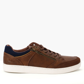 Lee Cooper Lace-Up Sneakers with Zip Detail