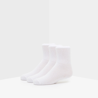 Textured Crew Length School Socks