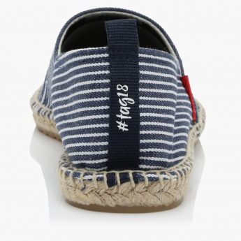 #tag18. Striped Slip-On Espadrille