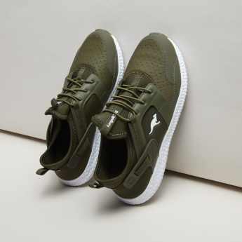 KangaROOS Perforated Sneakers with Lace-Up Closure