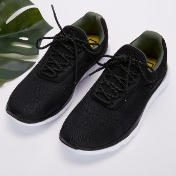 Kappa Mesh Detail Lace-Up Walking Shoes