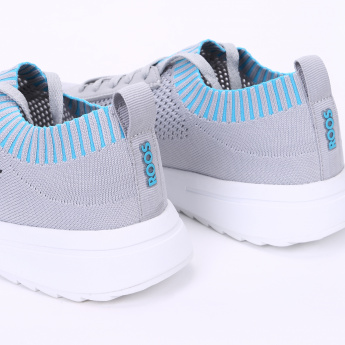 KangaROOS Textured Sneakers with Lace-Up Closure