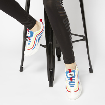 Kappa Striped Sneakers with Elasticated Laces and Slip-On Closure