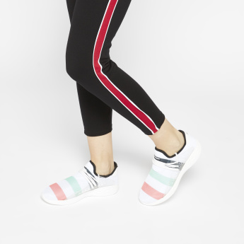 Kappa Striped Sneakers with Lace-Up Closure