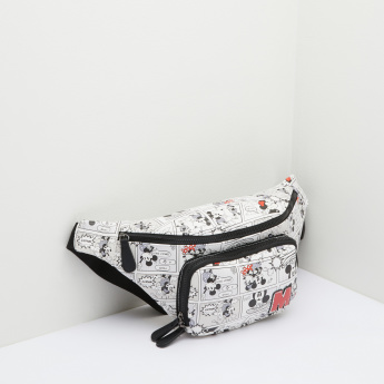Mickey Mouse and Minnie Mouse Printed Bumbag