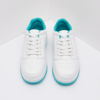 Perforated Sneakers with Lace-Up Closure