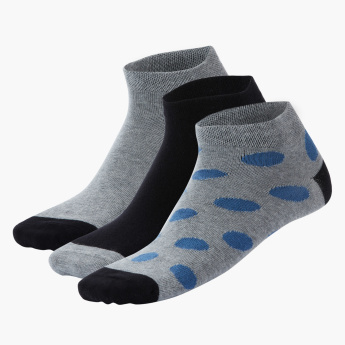 Duchini Assorted Ankle Length Socks - Set of 3