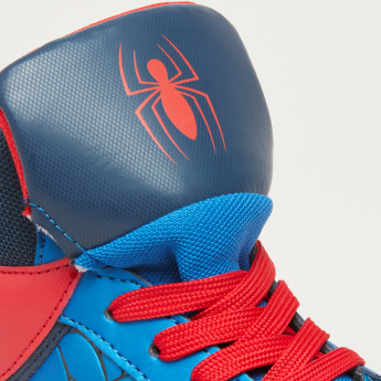 Spider-Man Textured High Top Shoes with Lace Closure