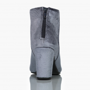 Paprika Embellished Boots with Zip Closure