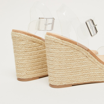 STEVE MADDEN Wedges with Pin Buckle Closure