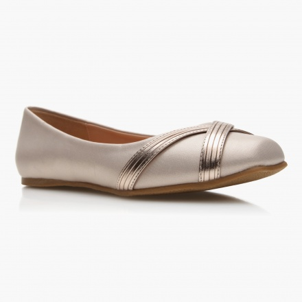 Jane Shilton Cross Strap Ballerina Shoes