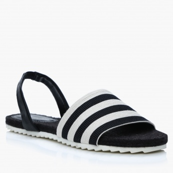 Jane Shilton Striped Slides with Back Strap