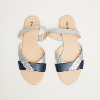 12cef3b1ea09 Missy Glitter Sandals with Sling Back