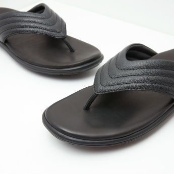 Thong Sandals with Slip-On Closure and Stitch Detail