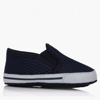 Textured Slip-On Comfort Shoes