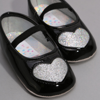 Juniors Glitter Detail Ballerinas with Elasticised Band