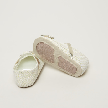 Juniors Bootie Ballerina Shoes with Hook and Loop Closure