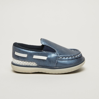 Juniors Stitch Detail Slip-On Shoes with Elasticised Gussets