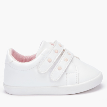 Juniors Studded Shoes with Hook and Loop Closure