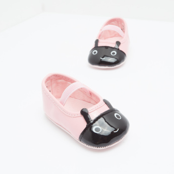 Mary Jane Shoes with Applique Detail and Elastic Closure