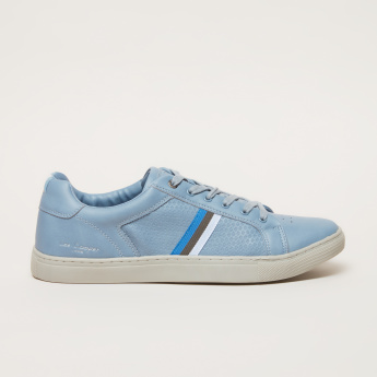 Lee Cooper Lace-Up Sneaker with Tape Detail