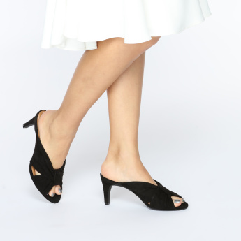 18648781db50 Aerosoles Cross Strap Slides with Knot Detail