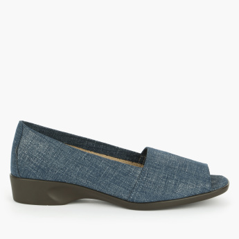 Aerosoles Textured Slip-On Peep Toe Shoes