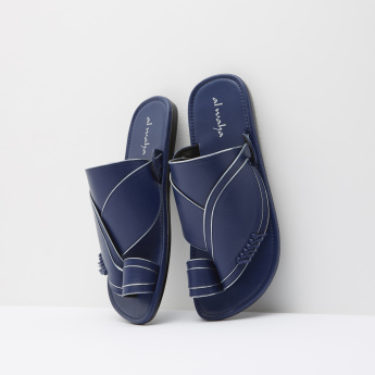 Al Waha Leather Slip-On Sandals with Toe Ring