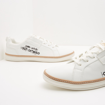 Lee Cooper Printed Sneakers with Lace-Up Closure