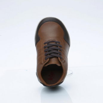 Lee Cooper Lace-Up Shoes with Stitch Detail