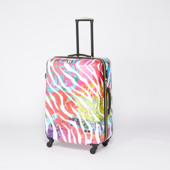 Mia Toro Printed Travel Bag with Zip Closure