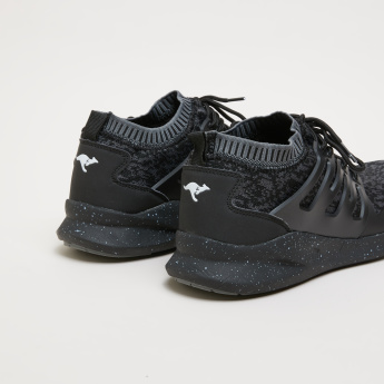 KangaROOS Knitted Lace-Up Walking Shoes