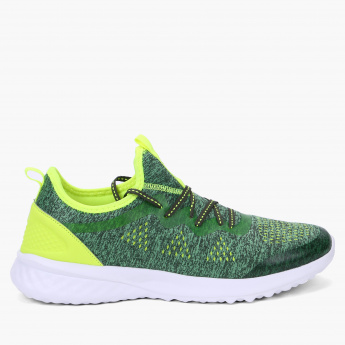 Kappa Textured Walking Shoes with Lace-Up Closure