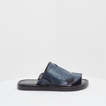 Al Waha Textured Slides with Slip-On Closure